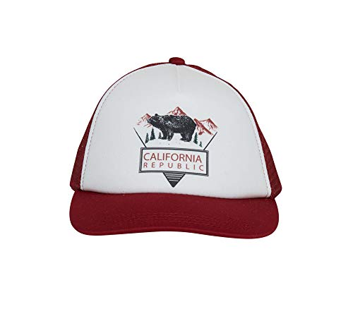 Knuckleheads Clothing Baby Boy Infant Trucker Sun Hat Toddler Mesh Baseball Cap Cali Burgundy S 48 cm 12 to 24 Months