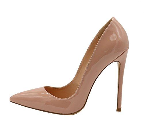 Talon Chaussures Aiguille Élégant 120mm Femmes Haut Femme Fête Elashe Escarpins Beige XxUUZ
