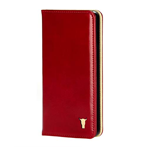 TORRO Genuine Leather Stand Case Compatible with Apple iPhone 11 Pro Max (Red)