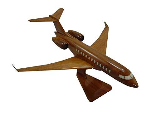 Global Express Mahogany wood Airplane desktop Model