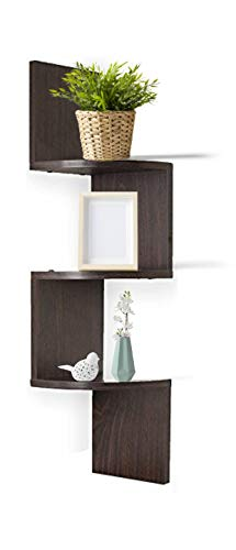 Amazon Com Adorn Home Essentials Corner Zig Zag Wall Mount Shelves