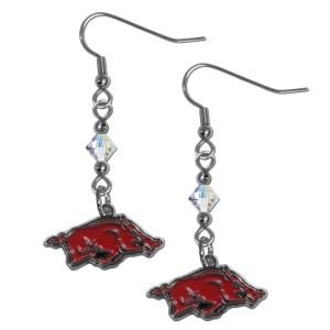 NCAA Arkansas Razorbacks Crystal Dangle Earrings