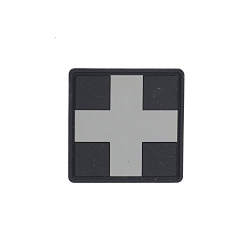 M-Tac Set of 2 Medical Cross Morale Patch Military Army Hook Fasteners (Black) ()