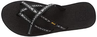 Teva Women's W Olowahu Flip-Flop, Himalaya Black, 5 Medium US