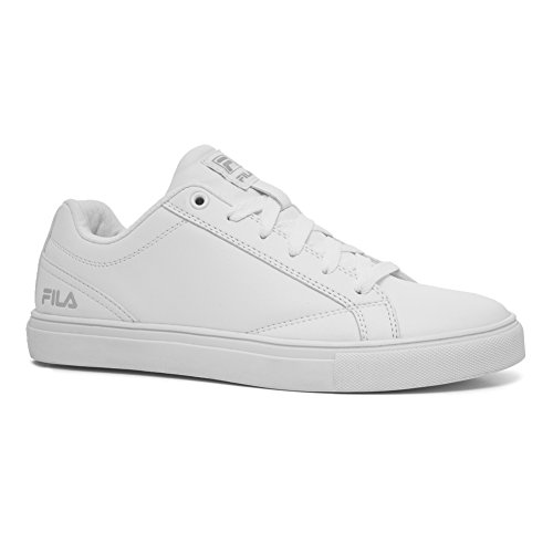 White Fila Sneakers (Fila Women's Amalfi Casual Sneakers, White Synthetic, Rubber, 8 M)