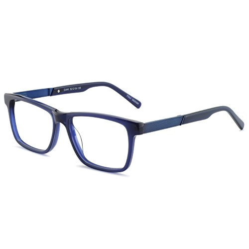 OCCI CHIARI Non-Prescription Eyewear Frame Clear Eyeglasses Men Optical Glasses Blue