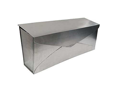 Steel Wall Mailbox - NACH MB-6915SS Envelope Mailbox Stainless Steel - Wall Mounted Post Box, 14.5 x 4 x 8 inch