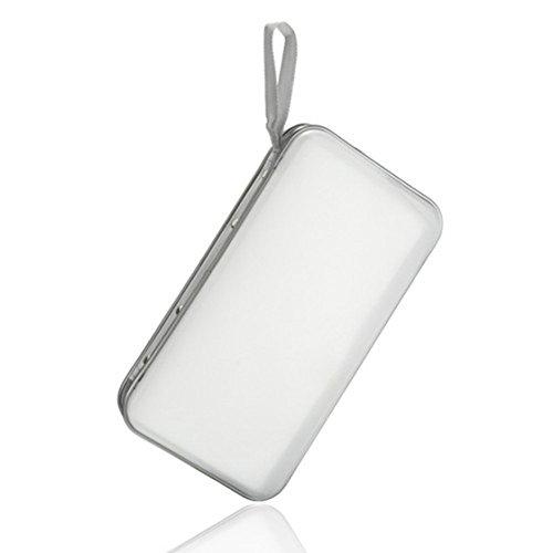 SODIAL(R) 80 Disc Album CD DVD Carry Cover Case Wallet Storage Holder Bag Hard Box - White