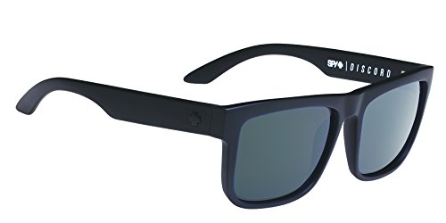 Spy Optic Discord Flat Sunglasses, Soft Matte Black/Happy Gray/Green, 57 - Discord Spy