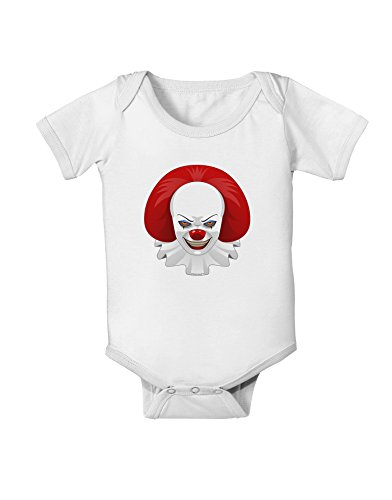 Images Of Scary Clowns (Scary Clown Face 2 - Halloween Baby Romper Bodysuit - White - 12 Months)