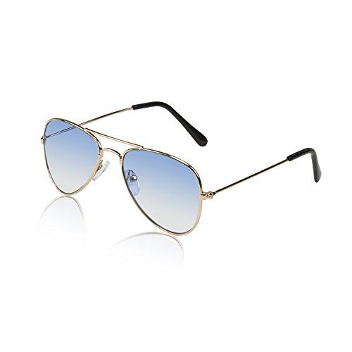 Aviator - anteojos de sol para niños y niñas (protección UV), Azul, Small