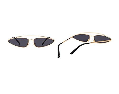 polarizadas UV mujeres Gris Gafas hombres Hellomiko para y Gafas moda Oro polarizadas pqF48Z