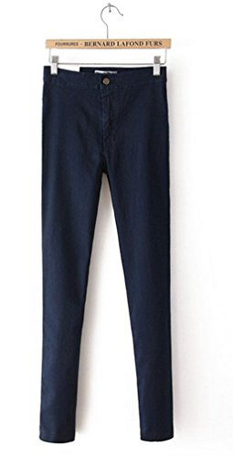 CARMELA HILL WILLIAMS High Waist Jeans Woman Blue Denim Pencil Pants Stretch Waist Women Jeans Black Pants Calca - Freezer Williams