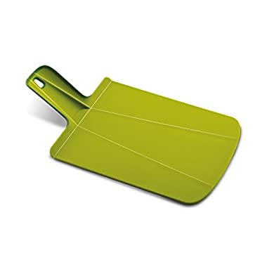 Joseph Joseph NSG016SW Chop2Pot Foldable Plastic Cutting Board 15-inch x 8.75-inch Chopping Board Kitchen Prep Mat with Non-Slip Feet 4-inch Handle Dishwasher Safe, Small, Green