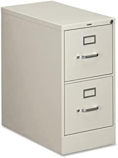 "product image for HON 310 Series Vertical Files w/Locks-2 Drawer File, Vertical, Letter, 15""x26-1/2""x29"", Light Gray"