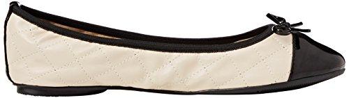 Butterfly Twists Women's Olivia Ballet Flats, Off White (Cream/Black), 3 UK