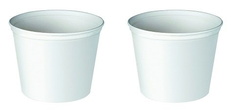 - Solo 10T1-N0198 165 oz White Paper Bucket (Case of 100) (2-(Pack))