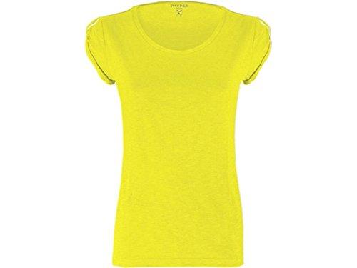 ATELIER DEL RICAMO - Camisa deportiva - para mujer Giallo Fluorescente