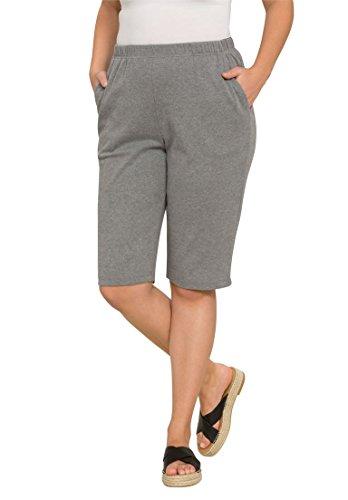 Roamans Womens Plus Size Soft Knit Bermuda Shorts