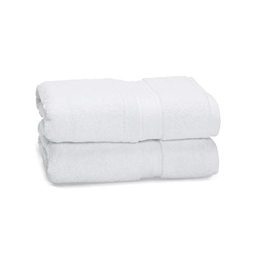 - eLuxurySupply Egyptian Cotton Towel Set - 2-Piece 900 GSM - Heavy Weight & Absorbent, White