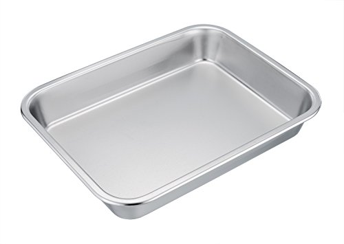 TeamFar Stainless Steel Square Rectangular Pan Hi-Side Pan ...
