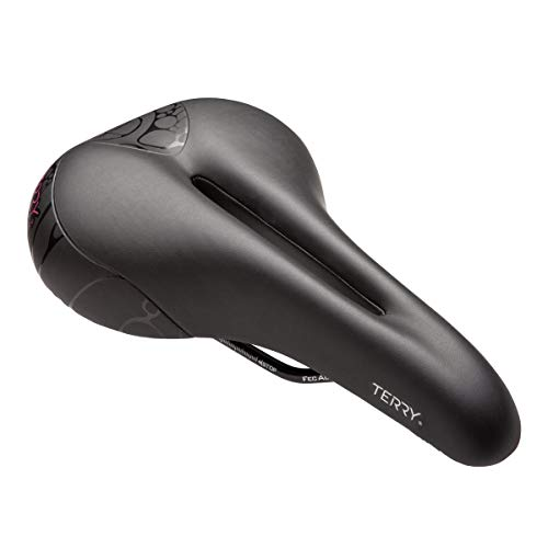 - Terry Women's Butterfly Cromoly Saddle, Bicycle Seat with Central Relief Zone and Ergonomic Design - Black