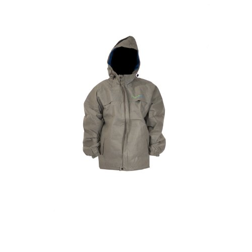 Envirofit Solid Rain Jacket, Grey, Large