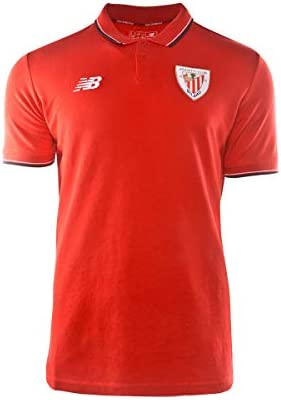 New Balance AC Bilbao Base 2019-2020, Polo, Red, Talla L: Amazon ...