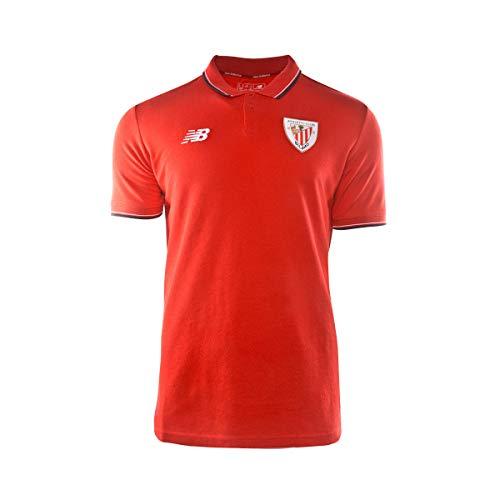 New Balance AC Bilbao Base 2019-2020, Polo, Red, Talla S: Amazon ...