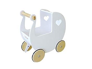 Amazon.es: Unbekannt Moover Moov de W de 025 muñeca de Madera Carro, Color Blanco: Juguetes y juegos