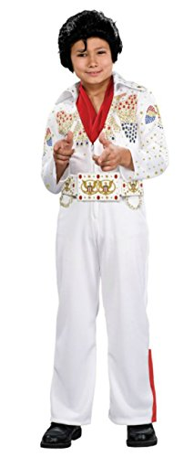 Boys Elvis Deluxe Kids Child Fancy Dress Party Halloween Costume, S (4-6) (Elvis Costume For Kids)