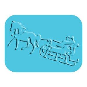 Sizzix Simple Impressions Embossing Folder - Horse Sleigh (Sizzix Simple Impressions Embossing Folder)
