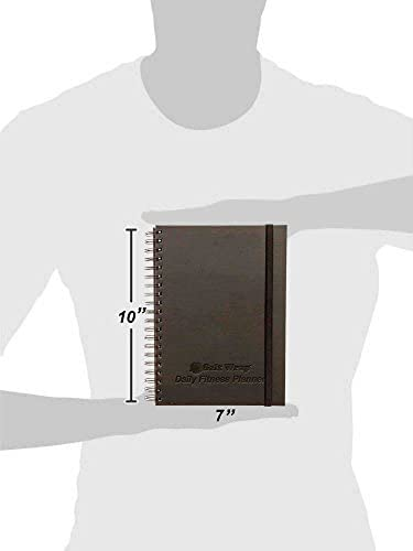 SaltWrap The Daily Fitness Planner - Gym Workout Log and Food Journal - with Daily and Weekly Pages, Goal Tracking Templates, Spiral-Bound, 7 x 10 inches 10