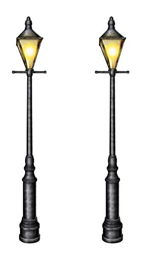 Beistle S57789AZ2 Jointed Lampposts 2 Piece, 6', Multicolored -
