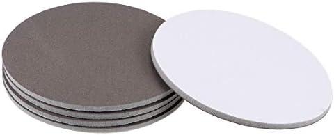 uxcell フックとループサンディングディスク 酸化アルミニウム製 グレー 15 cm径 400-グリット 5個入り