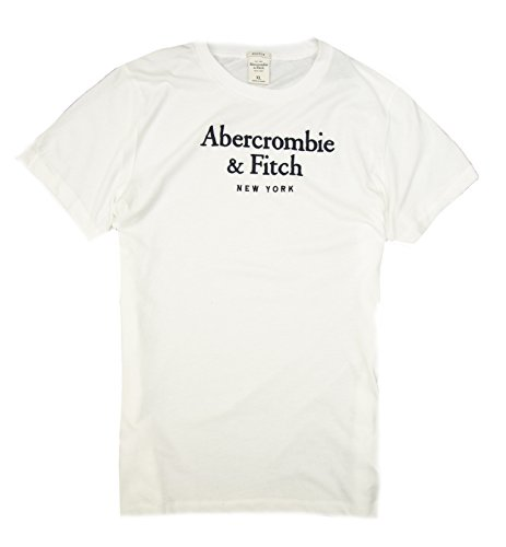 Abercrombie   Fitch Mens T Shirt  White A F  Xl