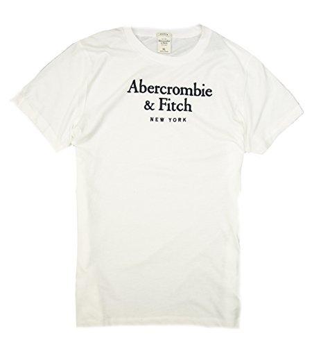 Abercrombie & Fitch Men's T-Shirt (White A&F, XL)