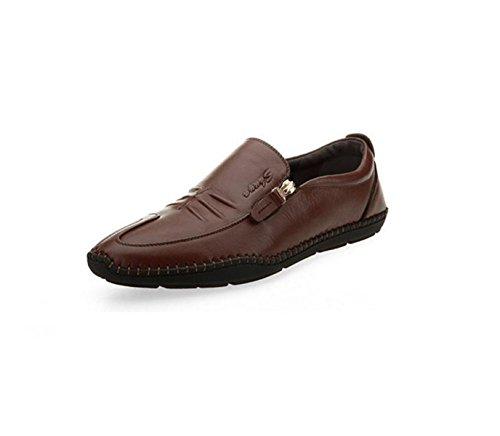 GRRONG Chaussures En Cuir Pour Homme En Cuir Véritable Loisirs Noir Marron brown VG4rB21l