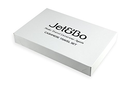 Jet&Bo 100% Cashmere Travel Set: Blanket, Eye Mask, Socks, Carry/Pillow Case Natural by Jet&Bo (Image #6)