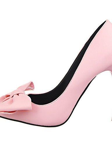 GGX/Damen Schuhe Stiletto Heel Spitz Zulaufender Zehenbereich Schleife Pumpe mehr Farbe erhältlich pink-us8 / eu39 / uk6 / cn39