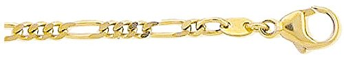 Or Bracelet Figaro en or 33319cm