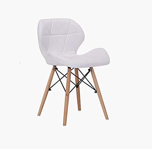 White Home Modern Casual Restaurant Chair Simple Leather Chair Computer Chair Home Back Chair Bar Chair (color   bluee)