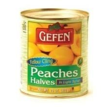 Gefen Fruit Peach Half Ls 28 Oz by Gefen