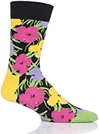 Happy Socks Hombres y Mujer Andy Warhol Flores Calcetines Pack de ...