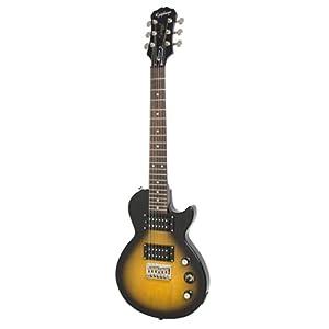 Epiphone Les Paul Express Travel-Size E-Gitarre (Vintage Sunburst Lack, 22 Mensur, Palisander Griffbrett, Ahornhals)