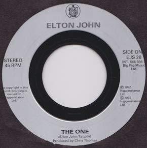 ELTON JOHN - THE ONE - 7 inch vinyl/45