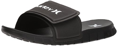 Hurley Men's Fusion 2.0 Slide Flip-Flop, Black, 10 M US