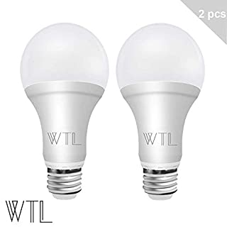 WTL 50/100/150W Equiv. 3-Way A21 LED Light Bulb 4000K Cool White (2 Pack)