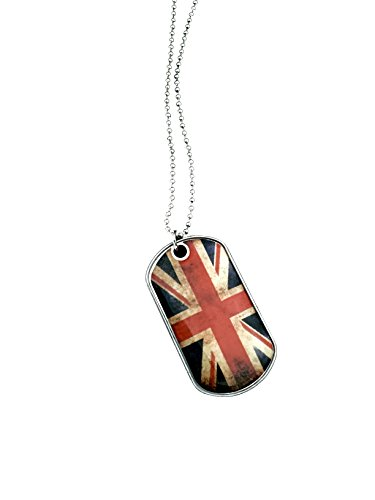 UK Flag Necklace UK Dog tag Stainless Steel necklace (United (Kentucky Wildcats Nylon Backpack)