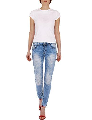 Usato Fraternel Chiaro Effetto Jeans Azzuro Skinny Donna xrqrIY